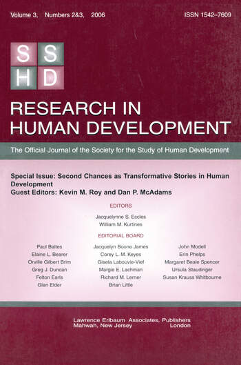 Second Chances As Transformative Stories Rhd V3 2&3 book cover