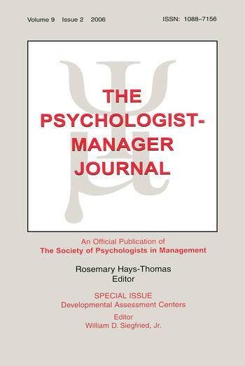 Developmental Assessment Centers Tpmj V9#2 book cover