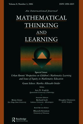 Urban Parents Perspectives Children'S Math. Mtl V8#3 book cover