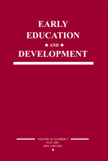 Early Education and Development A Special Issue of Early Education and Development book cover