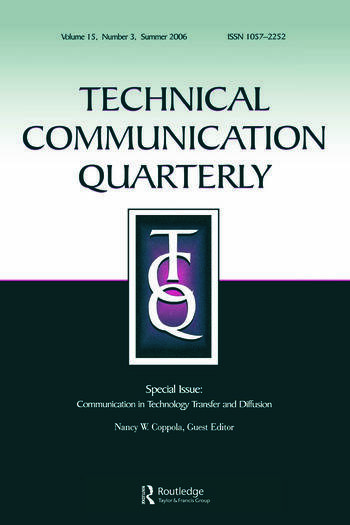Communication Technology Transfer&Diffusion Tcq 15#3 book cover