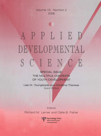 The Multiple Contexts Of Youth Development Ads V10#2 book cover