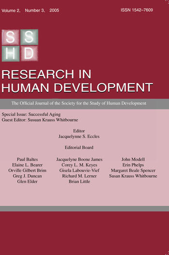 Successful Aging A Special Issue of research in Human Development book cover