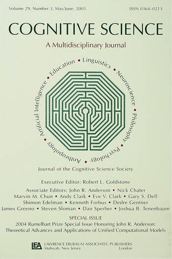 2004 Rumelhart Prize Special Issue Honoring John R. Anderson Theoretical Advances and Applications of Unified Computational Models: A Special Issue of Cognitive Science book cover