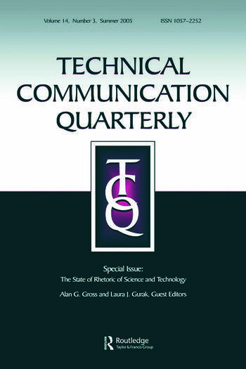 The State of Rhetoric of Science and Technology A Special Issue of Technical Communication Quarterly book cover