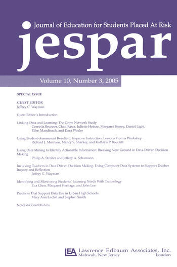 Transforming Data Into Knowledge Applications of Data-based Decision Making To Improve Instructional Practice:a Special Issue of the journal of Education for Students Placed at Risk book cover