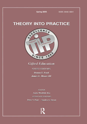 Gifted Education A Special Issue of Theory Into Practice book cover