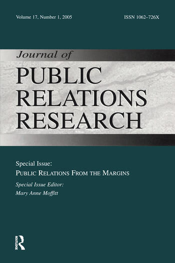 Public Relations From the Margins A Special Issue of the Journal of Public Relations Research book cover