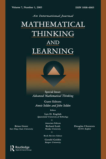 Advanced Mathematical Thinking A Special Issue of Mathematical Thinking and Learning book cover