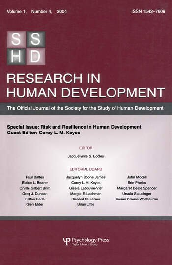 Risk and Resilience in Human Development A Special Issue of Research in Human Development book cover