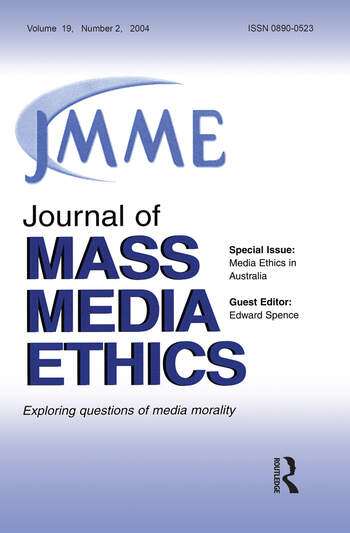 Media Ethics in Australia A Special Issue of the Journal of Mass Media Ethics book cover