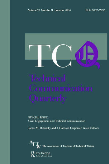 Civic Engagement and Technical Communication A Special Issue of Technical Communication Quarterly book cover