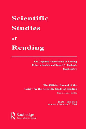 The Cognitive Neuroscience of Reading A Special Issue of scientific Studies of Reading book cover