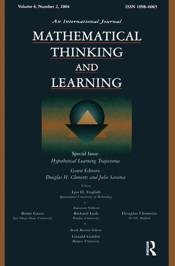 Hypothetical Learning Trajectories A Special Issue of Mathematical Thinking and Learning book cover