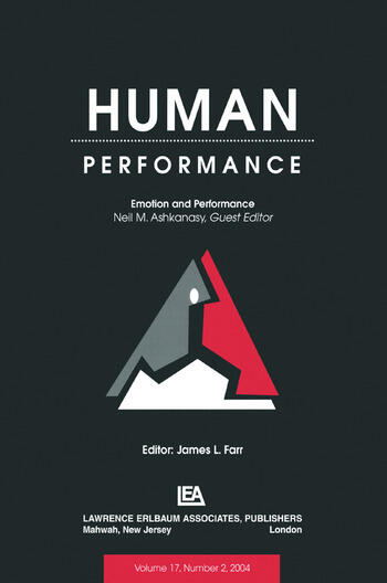Emotion and Performance A Special Issue of Human Performance book cover