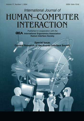 Current Research of the Human Interface Society A Special Issue of the international Journal of Human-computer Interaction book cover