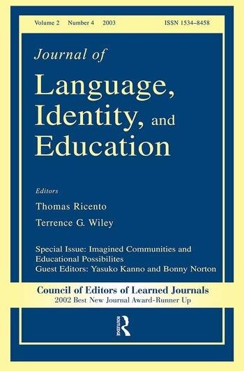 Imagined Communities and Educational Possibilities A Special Issue of the journal of Language, Identity, and Education book cover