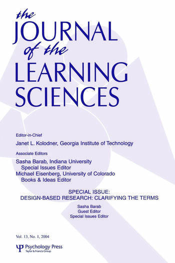 Design-based Research Clarifying the Terms. A Special Issue of the Journal of the Learning Sciences book cover