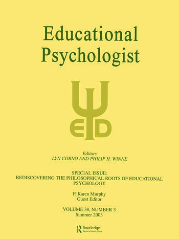 Rediscovering the Philosophical Roots of Educational Psychology A Special Issue of educational Psychologist book cover