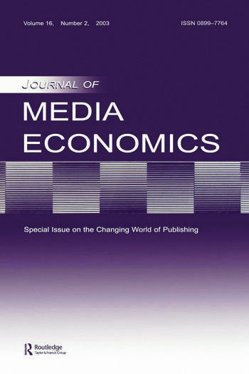The Changing World of Publishing A Special Issue of the Journal of Media Economics book cover