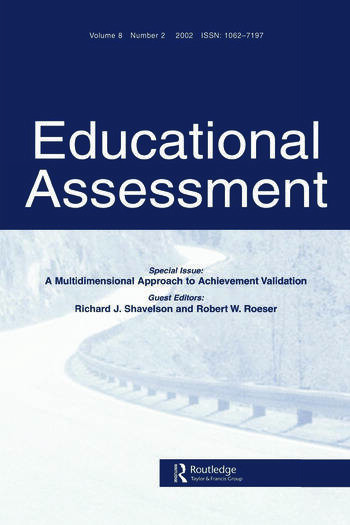 A Multidimensional Approach to Achievement Validation A Special Issue of Educational Assessment book cover