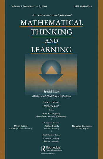 Models and Modeling Perspectives A Special Double Issue of mathematical Thinking and Learning book cover