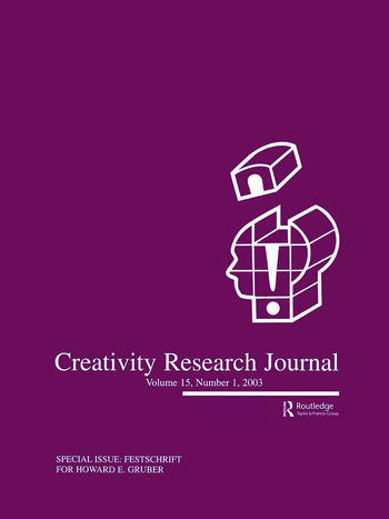 Festschrift for Howard E. Gruber A Special Issue of the creativity Research Journal book cover