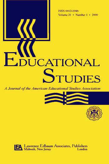 Education After 9/11 A Special Issue of educational Studies book cover