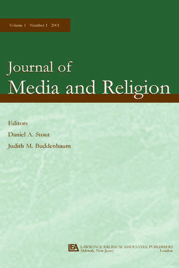 Religion and Television A Special Issue of the journal of Media and Religion book cover