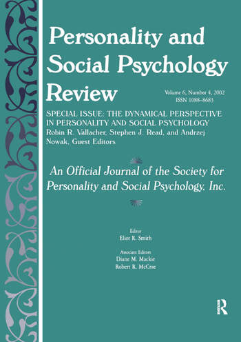 The Dynamic Perspective in Personality and Social Psychology A Special Issue of personality and Social Psychology Review book cover