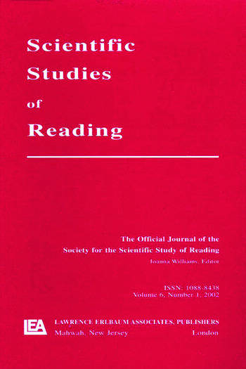 Reading Development in Adults A Special Issue of scientific Studies of Reading book cover