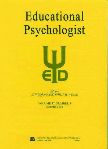 Emotions in Education A Special Issue of educational Psychologist book cover