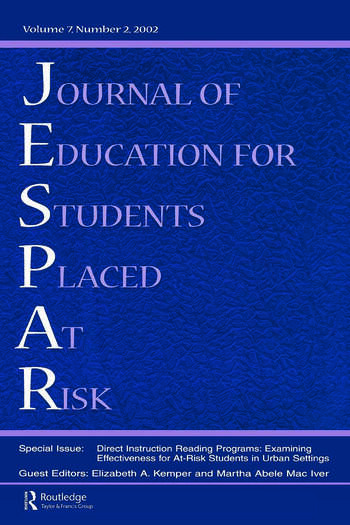 Direction instruction Reading Programs Examining Effectiveness for at-risk Students in Urban Settings: A Special Issue of the journal of Education for Students Placed at Risk book cover