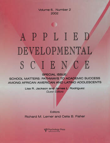 School Matters Pathways To Academic Success Among African American and Latino Adolescents:a Special Issue of applied Developmental Science book cover