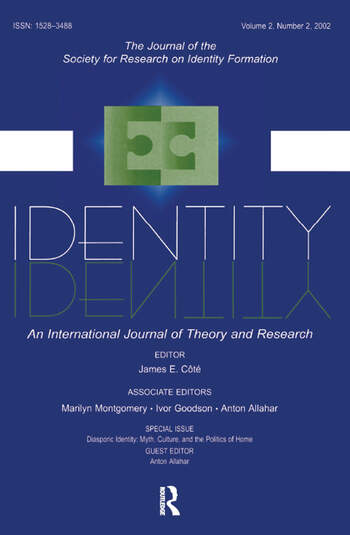 Diasporic Identity Myth, Culture, and the Politics of Home: A Special Issue of identity book cover