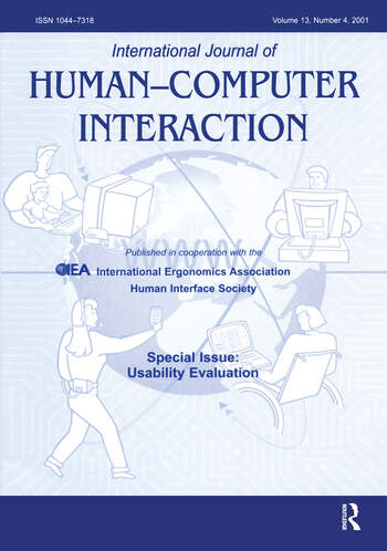 Usability Evaluation A Special Issue of the International Journal of Human-Computer Interaction book cover