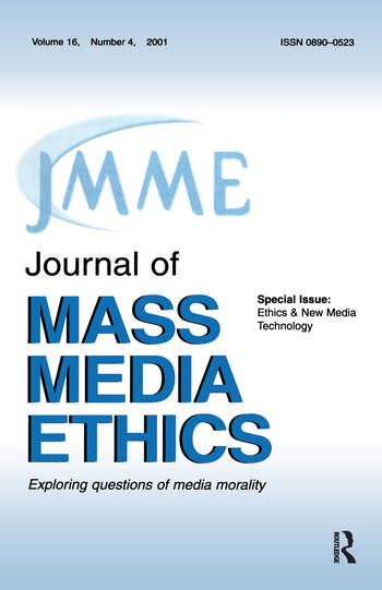 Ethics & New Media Technology A Special Issue of the journal of Mass Media Ethics book cover