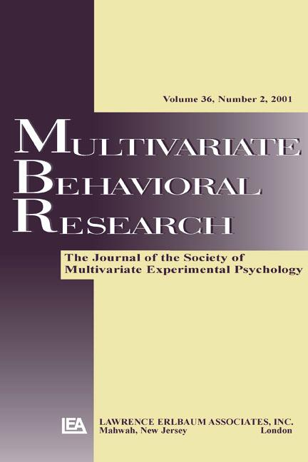 Multilevel Models A Special Issue of multivariate Behavioral Research book cover