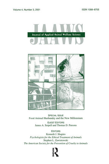 Food Animal Husbandry and the New Millennium A Special Issue of journal of Applied Animal Welfare Science book cover