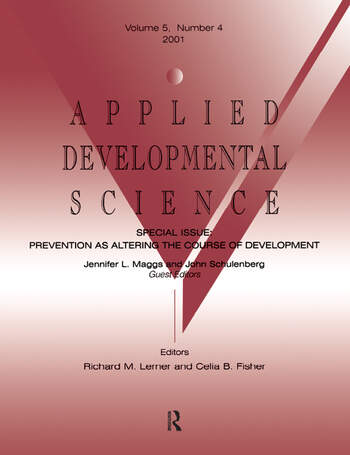 Prevention As Altering the Course of Development A Special Issue of applied Developmental Science book cover