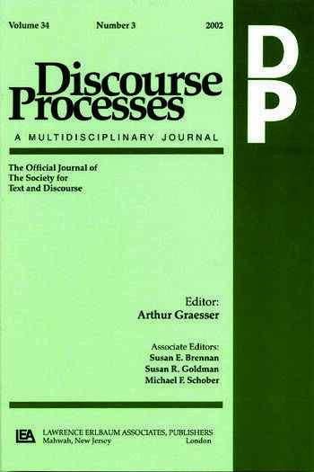 Argumentation in Psychology A Special Double Issue of Discourse Processes book cover