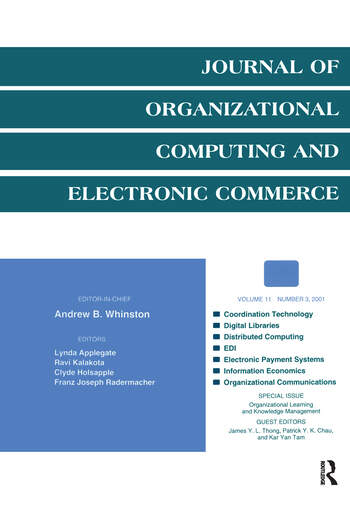 Organizational Learning and Knowledge Management A Special Issue of the journal of Organizational Computing and Electronic Commerce book cover