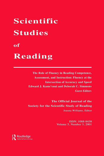 The Role of Fluency in Reading Competence, Assessment, and instruction Fluency at the intersection of Accuracy and Speed: A Special Issue of scientific Studies of Reading book cover