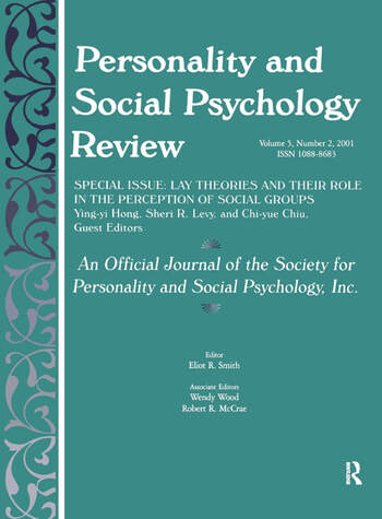 Lay Theories and Their Role in the Perception of Social Groups A Special Issue of Personality and Social Psychology Review book cover
