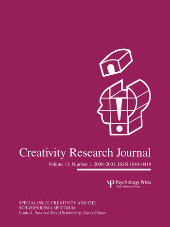 Creativity in the Schizophrenia Spectrum A Special Issue of the creativity Research Journal book cover
