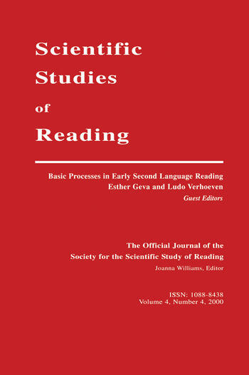 Basic Processes in Early Second Language Reading A Special Issue of scientific Studies of Reading book cover