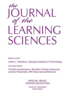 Design Education A Special Issue of the Journal of the Learning Sciences book cover