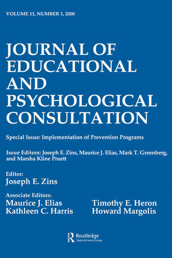 Implementation of Prevention Programs A Special Issue of the journal of Educational and Psychological Consultation book cover