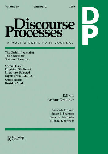 Empirical Studies of Literature Selected Papers From Igel '98. A Special Issue of discourse Processes book cover