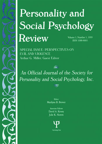 Perspectives on Evil and Violence A Special Issue of personality and Social Psychology Review book cover